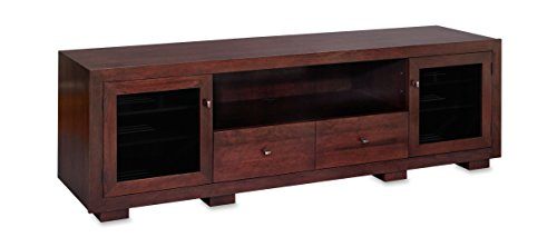 Haven EX 82-inch Solid Wood TV Stand / TV Console / Media Console for Flat Screen TVs to 90-inch by Standout Designs (Espresso on Cherry)