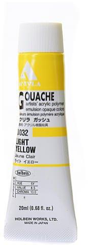 Holbein Acryla Gouache (Light Yellow) 1 pcs sku# 1873077MA