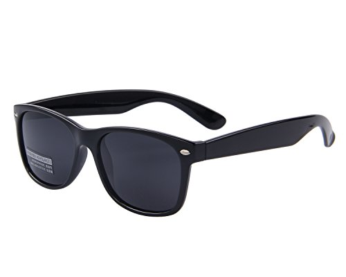 MERRYS Retro Rewind Classic Polarized Wayfarer Sunglasses S683 (Black 53)