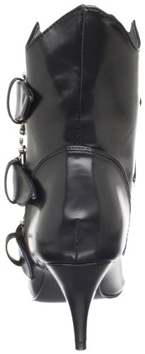 Pleaser Femmes Fury-06 Bottine Noir Nappa Pu