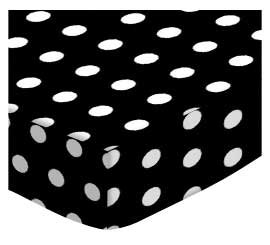 SheetWorld Fitted Pack N Play (Graco Square Playard) Sheet - Polka Dots Grey - Made In USA, 36 x 36 PP3636-W916