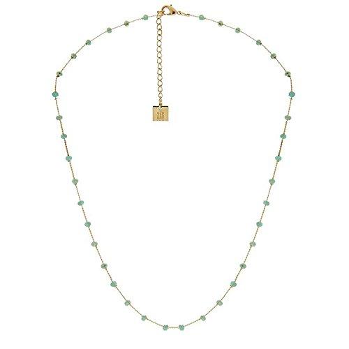 comprare popolare d5a2f e29ec Collana Catena sottili Perle Verdi, Zag Bijoux: Amazon.it ...