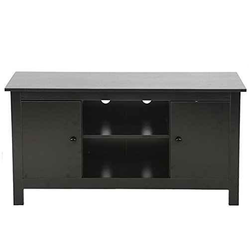 - BestMassage TV Stand Wood Media Storage Console Entertainment Center for 50