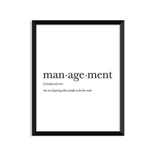 Management definition - Unframed art print poster or greeting card