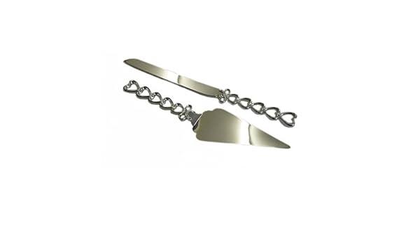 Compra Bañado en plata y cuchillo para pastel juego de ...