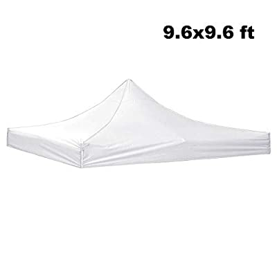 Awesome and Durable Pop Up Canopy Outdoor Tent Folding Gazebo Party Sun Shade Shelter 9.6x9.6 ft (Canopy Cover - White) : Garden & Outdoor