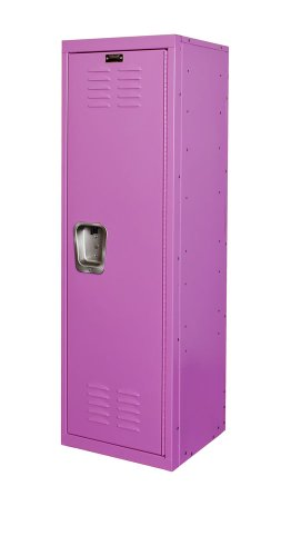 Hallowell Kid Locker, 15''W x 15''D x 48''H, 1133 Bubble Gum (pink), Single Tier, 1-Wide, Knock-Down by Hallowell