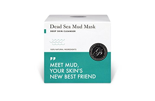 Dead Sea Mud Mask – Purify Toxins & Impurities from Congested, Acne Skin (200g / 7 fl. oz.) INCLUDES Sanitary Spatula – Minimize Appearance of Pores, Blemishes & Wrinkles - Gift (Stella Cleanser)
