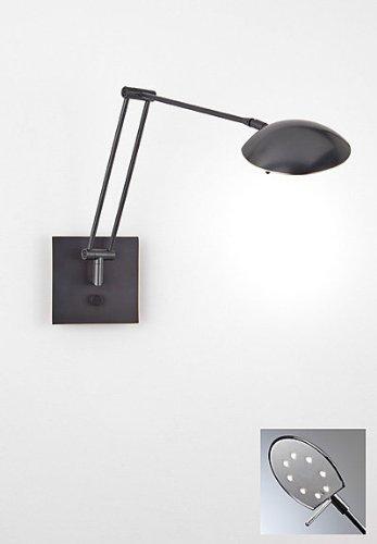 Holtkotter 8193LED HBOB Bernie - One Light Swing Arm Wall Sconce, Hand Brushed Old Bronze Finish - LED