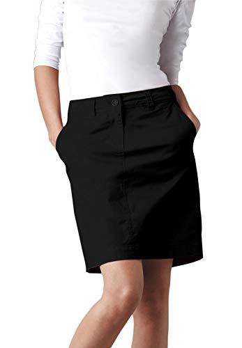 - Ellos Women's Plus Size Chino Skort - Black, 10