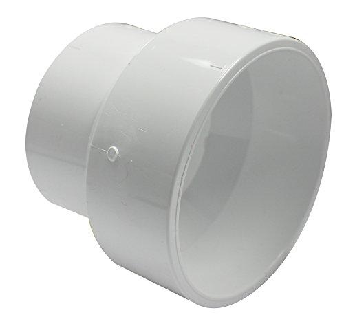 Canplas 193026 PVC DWV Reducer Coupling, 3 x 4-Inch, White -