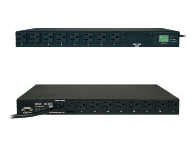 Tripp Lite Metered PDU with Automatic Transfer Switching PDUMH20AT - power distribution unit - 240 -