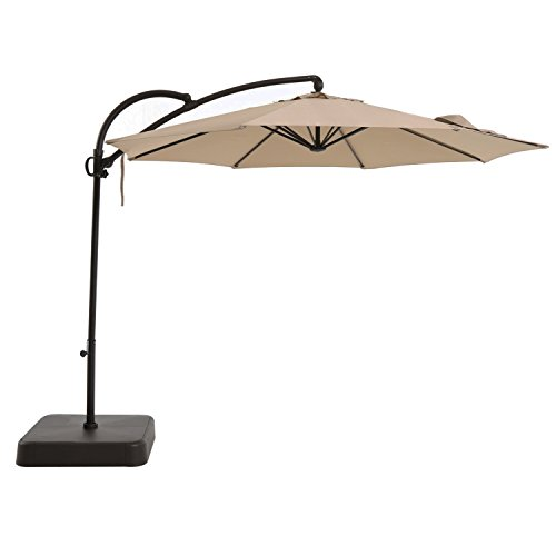 Royal Garden 10 ft Offset Outdoor Hanging Umbrella/Patio ...