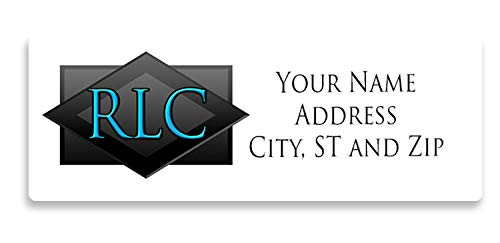 Personalized Return Address Labels 300 Count - Large - Beveled Initials