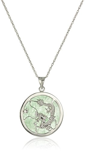 Rhodium Plated Sterling Silver Pendant Necklace