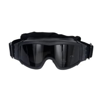 e64be74ea60 Lancer Tactical AERO 3mm Thick Dual Pane Lens Eye Protection Safety Goggle  System ANSI Z87 1 Rated Industry Standard Panel Ventilated w Anti-Scratch  Shield ...