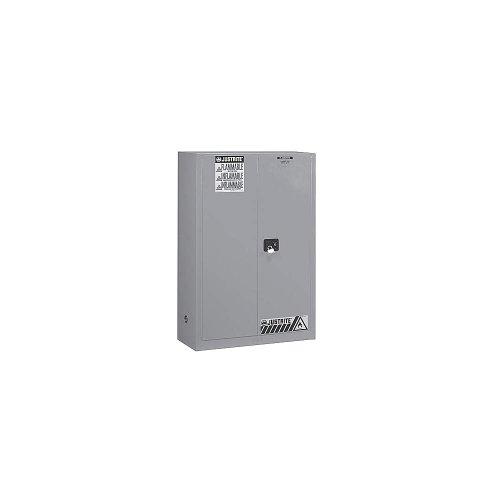 Justrite 894523 Sure-Grip EX Galvanized Steel 2 Door Self Close Flammables Safety Cabinet, 45 Gallon Capacity, 43