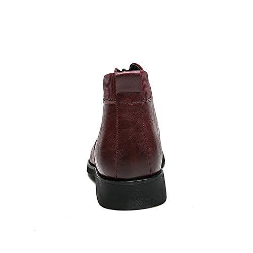 Uomo Uomo Uomo con Jiuyue Jiuyue Jiuyue EU Dimensione Stivali Cerniera da Decorazione 44 2018 Scarpe Uomo da shoes Rosso Rosso con Frontale Stivaletti Piatta Stivali sul Color Tallone rqwBqntfxI