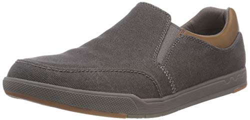 Grigio Clarks Infilare dark Step Grey Isle Sneaker Slip Uomo qwYTAF