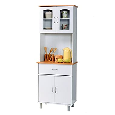 Hodedah Import Kitchen Cabinet, White