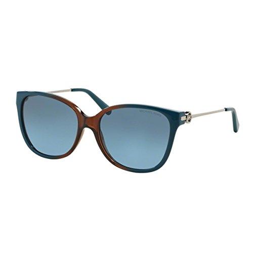 Michael Kors 6006 300717 Brown and Blue Marrakesh Wayfarer Sunglasses Lens - Kors Wayfarer Michael
