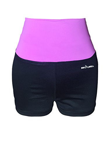 ZITY Womens Fitness Yoga Shorts Purple X-Large