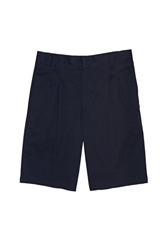 French Toast Boys' Pleated Short with Adjacent Waist, Navy, 12 Husky by French Toast