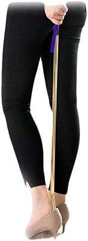 軽量 妊娠のための金属パンダシューホーンエクストラロングハンドル 耐用 (Color : Gloden, Size : 25cm)