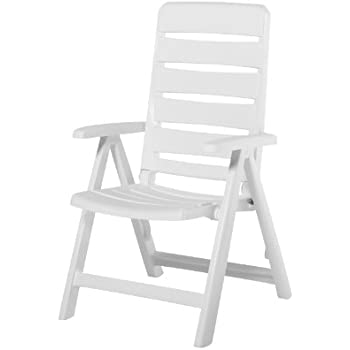 Amazon Com Kettler Nizza Resin Folding Chair White
