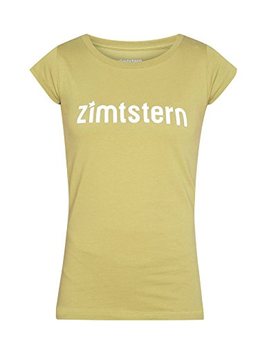 Zimtstern TSW Logo Type–Camiseta de mujer Verde - Green Moss