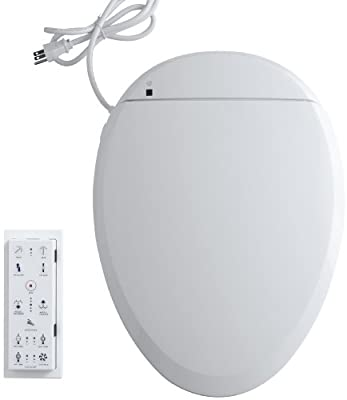 KOHLER K-4744-0 C3-201 Elongated Bidet Toilet Seat with In-Line Heater and Remote Controls, White