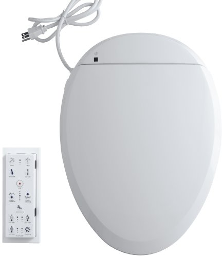 KOHLER K-4744-0 C3-201 Elongated Bidet Toilet Seat with In-Line Heater and Remote Controls, White -