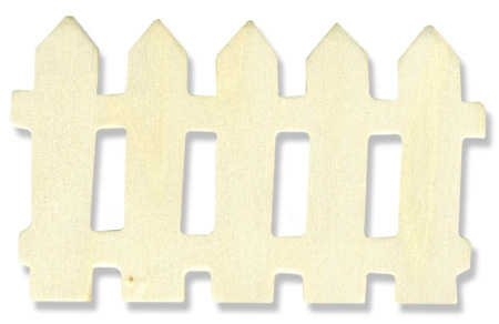 Unfinished Metal Miniature (Set of 12 - Unfinished Wood Picket Style Miniature Fence Sections: 4.25