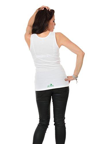 Summer Shirt de Print 3elfen Verde tirantes Ropa Camiseta Mujer Blanco Camiseta de mujer Leaves Top Magic Fxzw7aqpx