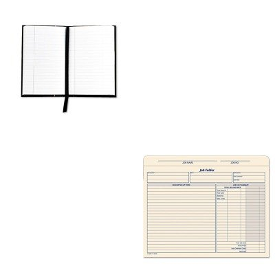 KITTOP25229TOP3440 - Value Kit - Tops Royale Business Casebound Notebook (TOP25229) and Tops Jacket Style Job Folders (TOP3440)