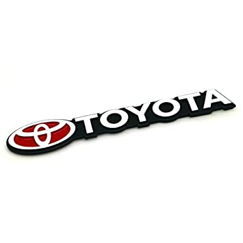 Stanniztm aluminum metal car emblem badge sticker decal for toyota