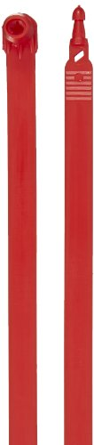 Aviditi SE1030 Plastic Truck Seal, 7-1/2'' Length, Red (Case of 100) by Aviditi