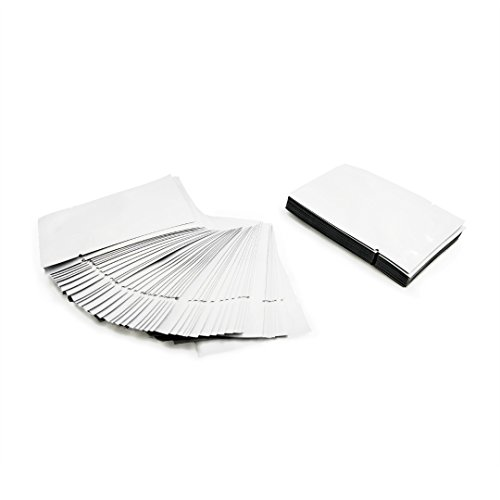 Premium Mylar Foil Open Top Bags (6cm x 9cm) Perfect for Sample Giveaway (100, White) -