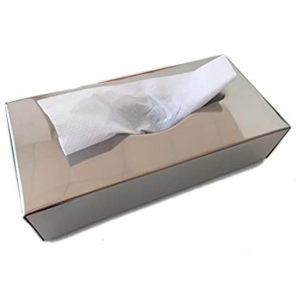 Dispensador de pañuelos o toallas faciales en acero inoxidable