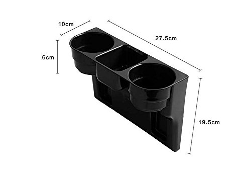 1 Auto Larger Size Seat Wedge Cup Holder Black Vehicle