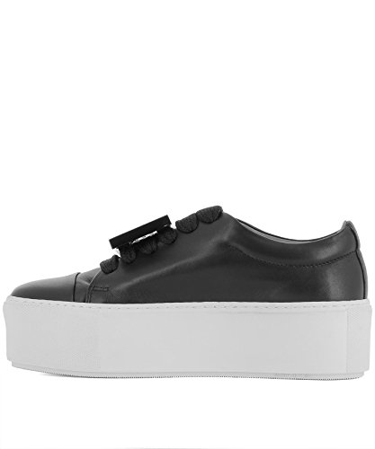 Femmes Studios 1e7176 De Sport D'acné De Noir Chaussures En Cuir OHZzqwq