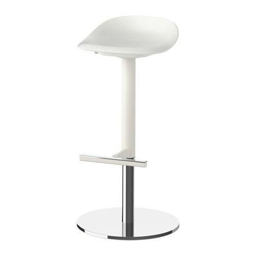 Ikea Bar stool, white 1626.14202.3438 by IKEA
