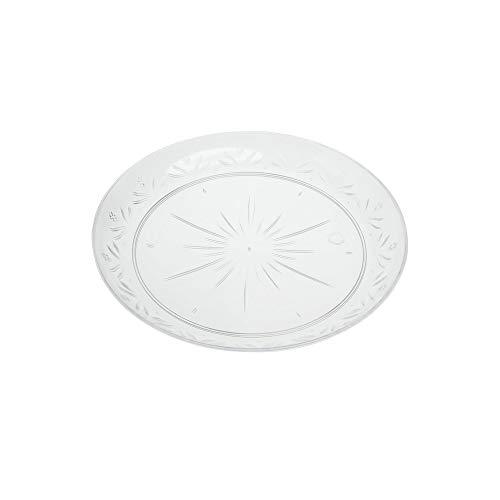 19 cm elegante resistente plastica dura piastre trasparente Confezione da 10