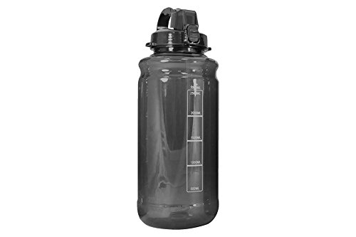 (GHP 101oz 3000ml Large Outdoor Water Bottle w/Handle & Straw - BPA Free Tritan Plastic - Leak Proof Push Button Lid - Eco-Friendly for Gym, Yoga, Camping, Running, Cycling, and Camping (Black))