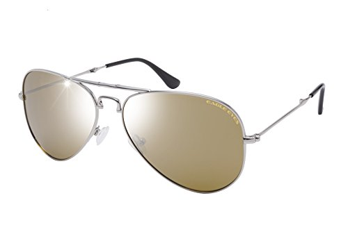Eagle Eyes Foldable Aviator Sunglasses - Silver Flash Mirror Gradient Polarized Sunglasses in Silver, - In Style Mirrored 2014 Are Sunglasses
