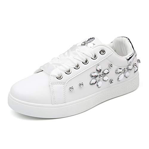 Mujeres Zapatos Casuales Zapatos de Mujer Plana Blanco