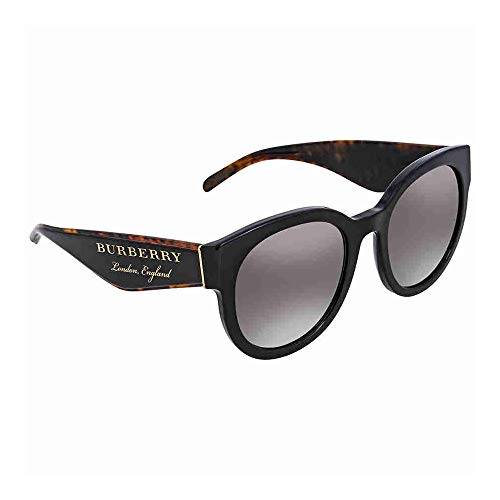 - Burberry Women's 0BE4260 Black/Gradient Grey/Mirror Silver One Size