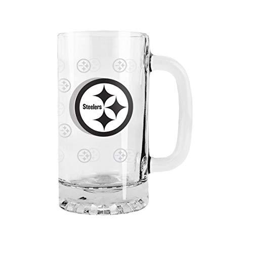 (2015 NFL Football Tankard Beer Mug - 16 Ounce Glass Mug (Steelers) )