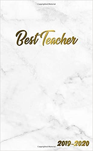 Best Teacher 2019-2020: Pretty Personal Marble & Gold Two ...
