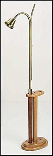 Stratford Chapel Maple Wood Candle Lighter Stand with Pecan Finish, 18 Inch ()